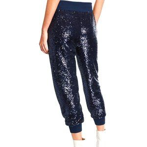 NWT Cinq A Sept Sequined Pull-On Jogger Pants